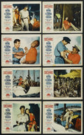 "Movie Posters:Adventure, Crosswinds (Paramount, 1951). Lobby Card Set of 8 (11"" X 14"").Adventure. ... (Total: 8 Items)"