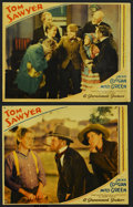 "Movie Posters:Adventure, Tom Sawyer (Paramount, 1930). Lobby Cards (2) (11"" X 14"").Adventure. ... (Total: 2 Items)"