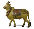 Miscellaneous, An Indian Puja Sculpture of Shiva's Bull, Nandi. . Unknown maker,Rajasthan, India. 20th century. Carved and painted wood, c...
