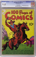 Golden Age (1938-1955):Western, 100 Pages of Comics #1 (Dell, 1937) CGC VF/NM 9.0 Off-white pages.Here's one we haven't had the chance to offer in any of o...