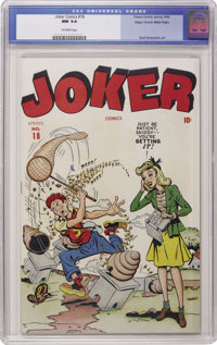 Joker Comics #18 Mile High pedigree (Timely, 1945) CGC NM 9.4 Off-white pages