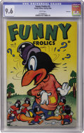 Golden Age (1938-1955):Funny Animal, Funny Frolics #3 Vancouver pedigree (Timely, 1946) CGC NM+ 9.6White pages....