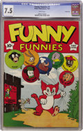 Golden Age (1938-1955):Funny Animal, Funny Funnies #1 Carson City pedigree (Nedor Publications, 1943)CGC VF- 7.5 White pages....