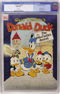 Golden Age (1938-1955):Cartoon Character, Four Color #189 Donald Duck (Dell, 1948) CGC VF+ 8.5 Whitepages....