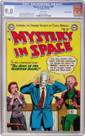 Golden Age (1938-1955):Science Fiction, Mystery in Space #20 Cosmic Aeroplane pedigree (DC, 1954) CGC VF/NM9.0 White pages....