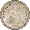 Seated Quarters, 1866 25C Motto MS64 NGC....