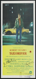 "Movie Posters:Crime, Taxi Driver (Columbia, 1976). Autographed Australian Daybill (13"" X30""). Crime. ..."