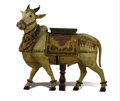 Asian:Other, An Indian Puja Sculpture of Shiva's Bull, Nandi. .Unknown maker, Indian. Circa 1895. Carved and painted wood, c...