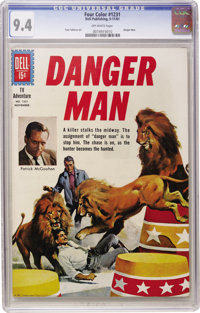 Four Color #1231 Danger Man (Dell, 1961) CGC NM 9.4 Off-white pages