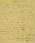 "Autographs:Statesmen, Declaration of Independence Signer Thomas Nelson, Jr. AutographLetter Signed, ""Thos Nelson Jr"", two pages, 6"" x 8"", Wil..."