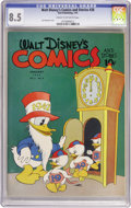 Golden Age (1938-1955):Cartoon Character, Walt Disney's Comics and Stories #28 (Dell, 1943) CGC VF+ 8.5 Creamto off-white pages....