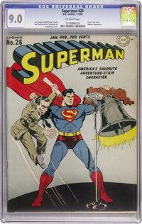 Superman #26 (DC, 1944) CGC VF/NM 9.0 Off-white pages