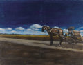 Fine Art - Painting, European:Contemporary   (1950 to present)  , Zoran Nastic (Yugoslavian, 20th century). . Horse and Carriage. Oil on panel. Signed lower right. 39-1/2 x 51-1/...