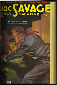 Doc Savage V2#1 - V22#4 Bound Volumes Group (Street & Smith, 1933-43).... (Total: 21 Items)