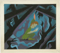 "Animation Art:Production Drawing, Mary Blair - ""Peter Pan"" Animation Concept Painting Original Art(Disney, 1953)...."