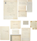 Autographs:Statesmen, Group of 14 Nineteenth Century Statesmen and Writers' Signatures,including John Hay (1901), Jesse D. Bright, Graham N... (Total: 14Items)