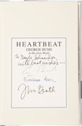 Books:Signed Editions, George H. W. Bush: Heartbeat: George Bush in His Own Words. Compiled and edited by Jim McGrath. New York: Scribner. ...