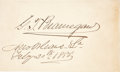 "Autographs:Military Figures, Pierre G. T. Beauregard Signature. The Confederate general hassigned ""G. T. Beauregard/ New Orleans, La./ Feby. 20th,188..."