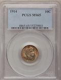 Barber Dimes: , 1914 10C MS65 PCGS. PCGS Population (141/55). NGC Census: (121/33).Mintage: 17,360,656. Numismedia Wsl. Price for problem ...