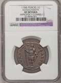 Colonials: , 1788 1C Massachusetts Cent, Period--Improperly Cleaned--NGCDetails. XF. NGC Census: (12/49). PCGS Population (53/127). (...