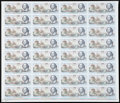 Miscellaneous:Other, De La Rue Giori S.A. Shakespeare One Pass Complete Uncut Sheet ofThirty-two. ...