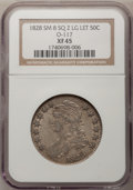 Bust Half Dollars: , 1828 50C Square Base 2, Small 8, Large Letters XF45 NGC. O-117.PCGS Population (57/247). (#6151)...