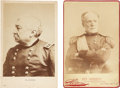 "Photography:Cabinet Photos, Two Cabinet Cards: Generals William T. Sherman and Philip Sheridan.Both cards are 4.25"" x 6.5"" and show the Union generals ... (Total:2 Items)"