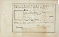 "Autographs:Statesmen, [Robert Morris] Pennsylvania Population Company Stock Certificate.One page, 13.25"" x 8.25"", n.p. [Philadelphia], February 6..."