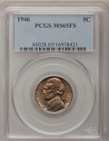 Jefferson Nickels: , 1946 5C MS65 Full Steps PCGS. PCGS Population (59/17). NGC Census:(4/0). (#84028)...