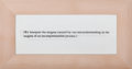 Post-War & Contemporary:Contemporary, JOSEPH KOSUTH (American, b. 1945). Wittgenstein - Untitled,1990-1991. Silkscreen on glass with maple frame. 10 x 20 inc...