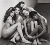 HERB RITTS (American, 1952-2002) Stephanie, Cindy, Christy, Tatjana, Naomi, Hollywood, 1989 Gelatin