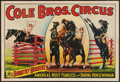 "Movie Posters:Miscellaneous, Circus Poster (Cole Brothers, 1930s). Poster (28"" X 41"").Miscellaneous.. ..."