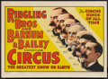 """Movie Posters:Miscellaneous, Circus Poster (Ringling Brothers and Barnum & Bailey, 1940s). Poster (20.5"""" X 28""""). Miscellaneous.. ..."""