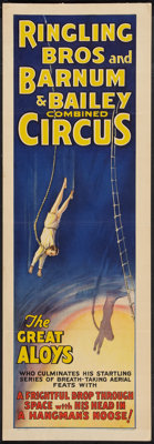 """Circus Poster (Ringling Brothers and Barnum & Bailey, 1930s). Poster (14"""" X 41""""). Miscellaneous"""