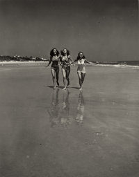 PHILIPPE HALSMAN (American, 1906-1979) Untitled (Girls Frolicking on the Beach, circa 1940s Gelatin