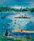 Paintings, JEAN DUFY (French, 1888-1964). Marine, circa 1946-1950. Oil on canvas. 22 x 18-1/2 inches (55.9 x 47.0 cm). Signed lower...