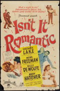 "Movie Posters:Comedy, Isn't It Romantic (Paramount, 1948). One Sheet (27"" X 41""). Comedy.. ..."
