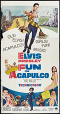 "Movie Posters:Elvis Presley, Fun in Acapulco & Others Lot (Paramount, 1963). Three Sheet(41"" X 81""), One Sheets (2) (27"" X 41""), and Lobby Card (11"" X 1...(Total: 4 Items)"
