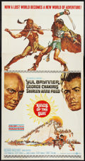 "Movie Posters:Adventure, Kings of the Sun (United Artists, 1964). Three Sheet (41"" X 81"").Adventure.. ..."