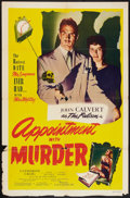 "Movie Posters:Crime, Appointment with Murder (Film Classics Inc., 1948). One Sheet (27"" X 41""). Crime.. ..."