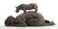 Post-War & Contemporary:Contemporary, ROBERTO FABELO (Cuban, b. 1950). Sirena y Rinoseronte, 2006.Bronze. 15 x 34 x 13 inches (38.1 x 86.4 x 33.0 cm). Signed...(Total: 2 Items)