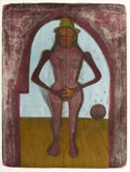 Prints, RUFINO TAMAYO (Mexican, 1899-1991). Woman Under an Arch (from The Mujeres Suite), 1969. Color lithograph. 27-1/4 x 2...