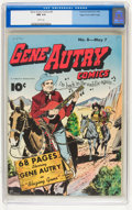 Golden Age (1938-1955):Western, Gene Autry Comics #8 Mile High pedigree (Fawcett, 1943) CGC NM 9.4White pages....