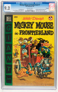 Golden Age (1938-1955):Funny Animal, Dell Giant Comics: Mickey Mouse in Frontierland #1 - File Copy(Dell, 1956) CGC NM- 9.2 Off-white pages....