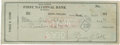 Baseball Collectibles:Others, 1950 Ty Cobb Signed Check....