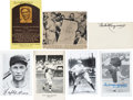 Baseball Collectibles:Photos, Hall of Famers and Stars Signed Memorabilia Lot of 7....
