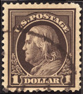 Stamps, $1 Violet Brown (423),... (Total: 1 Slab)