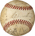 Baseball Collectibles:Balls, 1938 Chicago Cubs Team Signed Baseball....