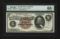 Large Size:Silver Certificates, Fr. 263 $5 1886 Silver Certificate PMG Gem Uncirculated 66 EPQ....