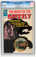 Silver Age (1956-1969):Adventure, Movie Classics: The Night of the Grizzly #nn File Copy (Dell, 1966) CGC NM 9.4 Off-white to white pages....
